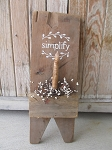 Farmhouse Antique Vintage Primitive Simplify with Vine Wood Boot Jack Timer Candle Wall Decor