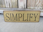 Primitive Simplify Horizontal Hand Stenciled Wooden Sign