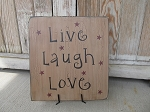 Primitive Small Sentiments Hand Painted Word Sign Plaque