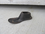 Primitive Antique Small Cast Iron Shoe Last