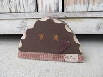 Primitive Country Chunky Wood Gingerbread Head with Star Eyes