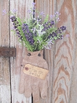 Primitive Shabby Chic Spring Gardeners Glove with Florals