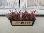 Primitive Country Star and Berry Bread Loaf Pan Light with Lighting Options