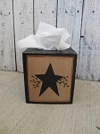 Primitive Star and Berry Hand Painted Tissue Box Cover