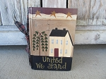 Primitive Americana Stars and Stripes Saltbox Hand Painted Book