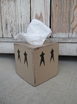 Primitive Star Hand Painted Tissue Box Cover with Color Choices