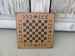 Primitive Star and Wheat Checker Game Board 8x8 with Color Choices