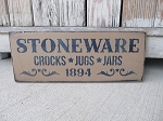 Primitive Stoneware Crocks Jugs and Jars 1894 Sign