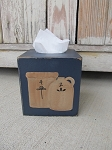 Primitive Country Stoneware Crock and Jug Hand Painted Tissue Box Cover