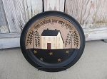Primitive Home is Where Your Story Begins Saltbox House Hand Painted Plate