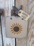 Primitive Country Sunflower Head Hand Painted Wooden Sign Plaque