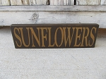 Primitive Sunflowers Wooden Hand Painted Sign