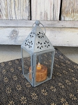 Primitive Colonial Tea Light Lantern with or without Timer Tealight