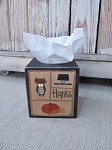 Primitive Thanksgiving Sampler Hand Painted Tissue Box Cover