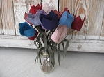 Primitive Country Hand Made Tulip Stem with Color Choice