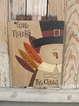 Primitive Hand Painted Personalized Turkey Sign