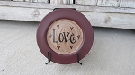 Primitive Hand Lettered Valentine Mini Word Plate