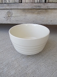 Antique Vintage White USA Stoneware 5 Inch Mixing Bowl