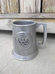 Primitive Colonial Antique Wilton Pewter Eagle Tall Mug