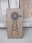 Farmhouse Rustic Windmill Hand Painted Wooden Sign
