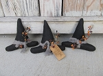 Primitive Halloween Witch Hat Bowl Fillers Set of 3