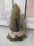 Primitive Christmas Pine Tree Duo