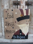 Primitive Country Uncle Sam Personalized Sign