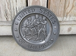 Vintage Antique United States of America Spirit of 76 Centennial Pewter Plate