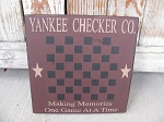 Primitive Yankee Checker Co. Game Board