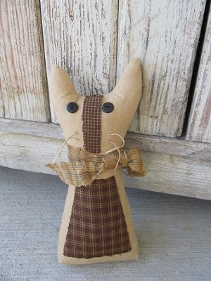 Primitive Country Homespun Kitty Cat