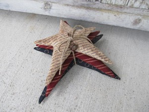 Primitive Americana Homespun 3 Star Pillow Stack Bundle