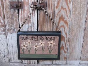 Primitive Country Cottage Chic Wild Flower Hanging Hand Painted Vintage Book
