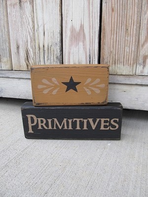 Primitives Set of 2 Hand Painted Stacker Blocks with Color Options
